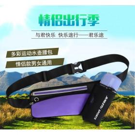 Junletu Tas Pinggang Olahraga Holder Botol Minum Sporty Waist Bag Woman - B-FF001 - Black - 6