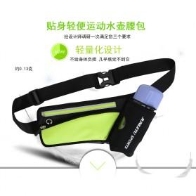Junletu Tas Pinggang Olahraga Holder Botol Minum Sporty Waist Bag Woman - B-FF001 - Black - 7