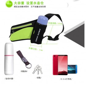 Junletu Tas Pinggang Olahraga Holder Botol Minum Sporty Waist Bag Woman - B-FF001 - Black - 11