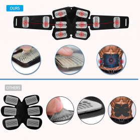 LISM Alat Stimulator Terapi EMS Otot Six Pack ABS Abdominal Muscle Exercise - OUT39 - Black - 4