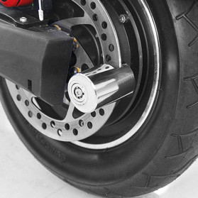 DEYIOU Gembok Sepeda Motor Moped Disc Brake Cakram - P1318 - Silver - 6