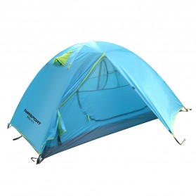 TaffSPORT Tenda Camping Backpacking Outdoor Tent Double Layer 2 Orang - S003-JY-L - Blue
