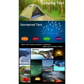 TaffSPORT Tenda Camping Backpacking Outdoor Tent Double Layer 2 Orang - S003-JY-L - Blue - 6