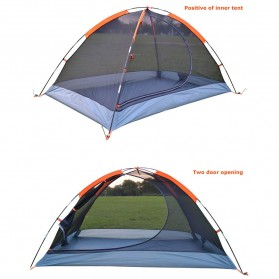TaffSPORT Tenda Camping Backpacking Outdoor Tent Double Layer 2 Orang - S003-JY-L - Blue - 8