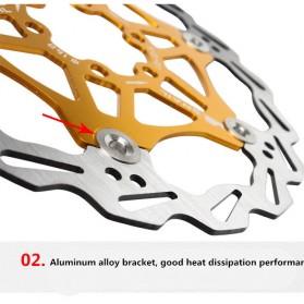 XKM Gigi Sprocket Sepeda Heat Dissipation Floating Rotor 160mm - 105B - Black - 6
