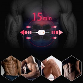 Medocflore Alat Stimulator Terapi EMS Otot Six Pack ABS Abdominal Muscle APP Control - MD16 - Black - 10
