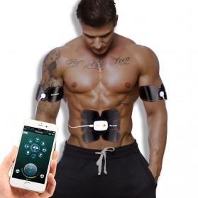 Medocflore Alat Stimulator Terapi EMS Otot Six Pack ABS Abdominal Muscle APP Control - MD16 - Black - 2