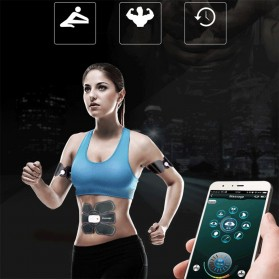 Medocflore Alat Stimulator Terapi EMS Otot Six Pack ABS Abdominal Muscle APP Control - MD16 - Black - 7