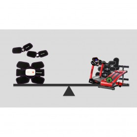Medocflore Alat Stimulator Terapi EMS Otot Six Pack ABS Abdominal Muscle APP Control - MD16 - Black - 9