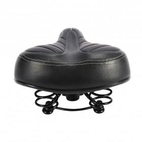 AU DE Sadel Sepeda Comfortable Shock Absorption Skidproof - SX119 - Black - 4