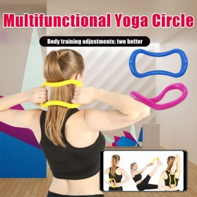 Yomee Magic Ring Resistance Pilates Circle Yoga Fitness -SDEFWE - Blue - 3