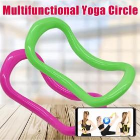Yomee Magic Ring Resistance Pilates Circle Yoga Fitness -SDEFWE - Blue - 6