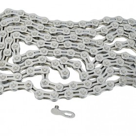 VG Sports Rantai Sepeda Bicycle Chain Half Hollow 10 Speed for Mountain Road Bike - Silver - 5