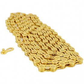 VG Sports Rantai Sepeda Bicycle Chain Half Hollow 10 Speed for Mountain Road Bike - Golden - 3