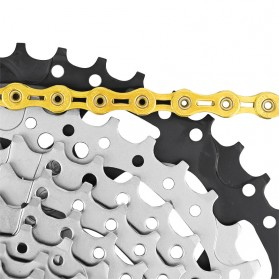 VG Sports Rantai Sepeda Bicycle Chain Half Hollow 10 Speed for Mountain Road Bike - Golden - 6