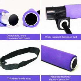 RIDEFORCE Bar Stick Tali Stretching Pilates Tube Yoga Fitness You Can Do It - TP49 - Purple - 6