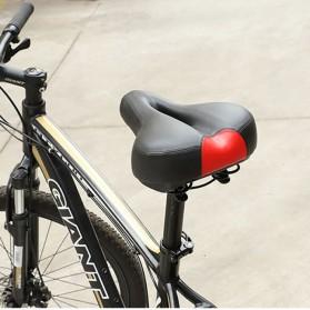 WEST BIKING Sadel Sepeda Bike Saddle Leather Model Spring - Black - 9