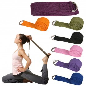 YOUSHITOP Tali Stretching Yoga Adjustable Belt Sport Stretch Strap D-Ring Belt Gym - E23 - Black - 2