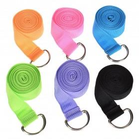 YOUSHITOP Tali Stretching Yoga Adjustable Belt Sport Stretch Strap D-Ring Belt Gym - E23 - Black - 3
