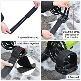 PROMEND Tali Pedal Sepeda Bicycle Pedal Toe Clip Foot Strap Cover - YQ097 - Black - 9