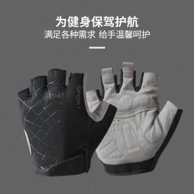Running Sarung Tangan Sepeda Half Finger Glove Size M - AO549 - Black/Gray - 4