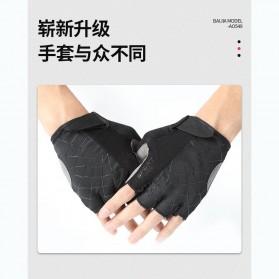 Running Sarung Tangan Sepeda Half Finger Glove Size M - AO549 - Black/Gray - 5