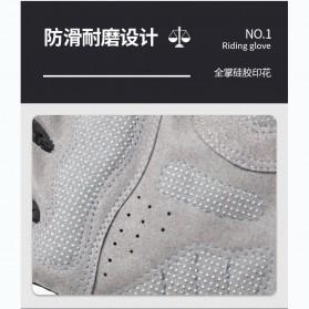 Running Sarung Tangan Sepeda Half Finger Glove Size M - AO549 - Black/Gray - 6