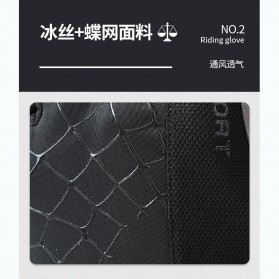 Running Sarung Tangan Sepeda Half Finger Glove Size M - AO549 - Black/Gray - 7