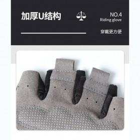 Running Sarung Tangan Sepeda Half Finger Glove Size M - AO549 - Black/Gray - 9
