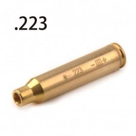 Souforce Peluru Red Dot Laser Boresight CAL Cartridge 223 - Golden