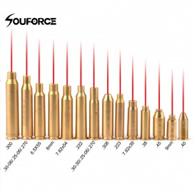 Souforce Peluru Red Dot Laser Boresight CAL Cartridge 270 - Golden - 2