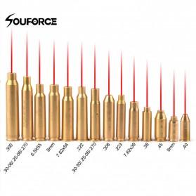 Souforce Peluru Red Dot Laser Boresight CAL Cartridge 9mm - Golden - 2