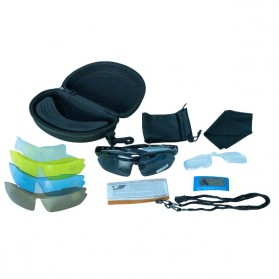 RB Kacamata Sepeda Olahraga Polarized UV Protection with 5 Lens - 0089 - Black - 2