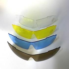 RB Kacamata Sepeda Olahraga Polarized UV Protection with 5 Lens - 0089 - Black - 3