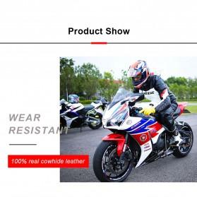 OZERO Sarung Tangan Kulit Motor Sepeda Gunung Anti Slip Size M - 1008 - Orange - 8