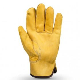OZERO Sarung Tangan Kulit Motor Sepeda Gunung Anti Slip Size M - 1008 - Yellow - 3