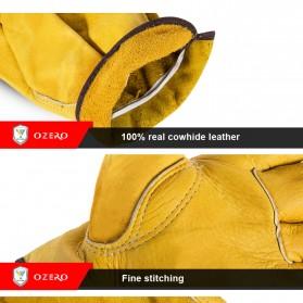 OZERO Sarung Tangan Kulit Motor Sepeda Gunung Anti Slip Size L - 1008 - Orange - 7