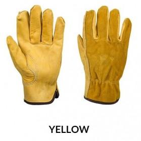 Motor - OZERO Sarung Tangan Kulit Motor Sepeda Gunung Anti Slip Size L - 1008 - Yellow
