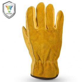 OZERO Sarung Tangan Kulit Motor Sepeda Gunung Anti Slip Size L - 1008 - Yellow - 4