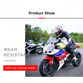 OZERO Sarung Tangan Kulit Motor Sepeda Gunung Anti Slip Size L - 1008 - Yellow - 8