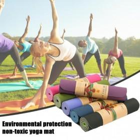 ASIM Karpet Pilates Yoga Exercise Mat Anti Slip TPE 173 x 61 CM - Gray - 4