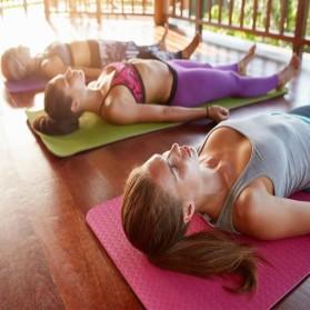 ASIM Karpet Pilates Yoga Exercise Mat Anti Slip TPE 173 x 61 CM - Gray - 5