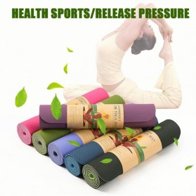 ASIM Karpet Pilates Yoga Exercise Mat Anti Slip TPE 173 x 61 CM - Gray - 6