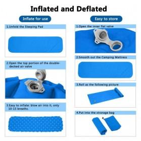 Encampment Kasur Matras Angin Inflatable Bed Air Cushion for Sleeping Bag - NH18 - Blue - 5