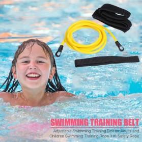 Obaolay Alat Latihan Renang Adjustable Swimming Training Resistance Band Safety Rope 4 Meter - OB100 - Yellow - 3