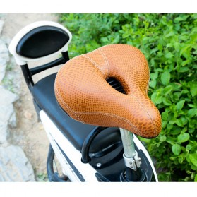 VERDENERGIA Sadel Sepeda Comfortable Cushion Shock Absorption - SX-997 - Brown - 3