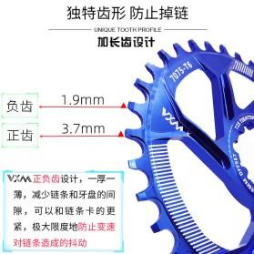 VXM Gigi Sprocket Sepeda Aluminium Round 38T - 7075-T6 - Black - 3
