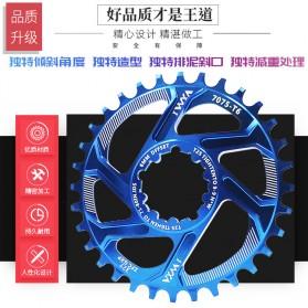 VXM Gigi Sprocket Sepeda Aluminium Round 38T - 7075-T6 - Black - 6