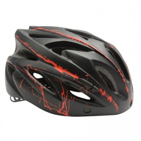 TaffSPORT Helm Sepeda Cycling Bike Helmet Visor Removable Lens - TT-31 - Black/Red - 3