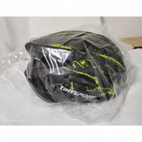 TaffSPORT Helm Sepeda Cycling Bike Helmet Visor Removable Lens - TT-31 - Black/Red - 7